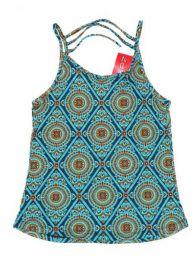 Top hippie con estampado mandalas Mod Azul