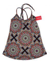 Camisetas y Tops Hippies - Top hippie con estampado mandalas TOSN07 - Modelo Marrón