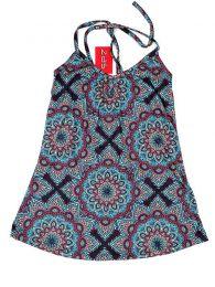 Camisetas y Tops Hippies - Top hippie con estampado mandalas TOSN07 - Modelo Azul