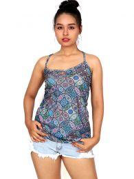 Camisetas y Tops Hippies - Top hippie con estampado mandalas TOSN08.
