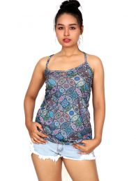 Hippie mandala print top TOSN08 to buy in bulk or in detail in the Alternative Hippie Clothing for Women category.