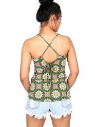 Top y Blusas Hippie Boho Ethnic - Top hippie con estampado mandalas TOSN09.