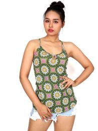 Hippie top with mandala print [TOSN09]. Hippie T-shirts and Tops to buy wholesale or detail in the category of Alternative Hippie Clothing for Women.