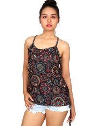 Top hippie mandalas aro en espalda [TOSN11]. Camisetas y Tops Hippies para comprar al por mayor o detalle  en la categoría de Ropa Hippie Alternativa para Mujer.
