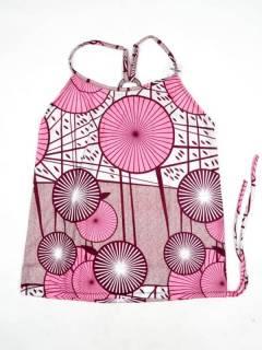 Camisetas Blusas y Tops - Top hippie con estampado flores TOSN14 - Modelo Rosa