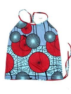 Camisetas Blusas y Tops - Top hippie con estampado flores TOSN14 - Modelo Azul