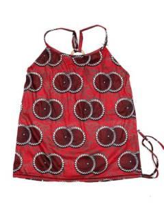 Camisetas Blusas y Tops - Top hippie con estampado flores TOSN15 - Modelo Rojo