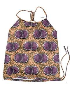 Camisetas Blusas y Tops - Top hippie con estampado flores TOSN15 - Modelo Morado
