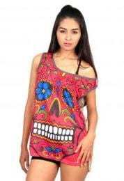 Hippie skull top [TOUN34]. Shirts Blouses and Tops to buy wholesale or detail in the category of Hippie Clothing for Women.
