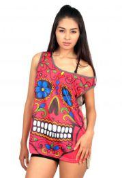 Camisetas y Tops Hippies - top calavera hippie, top de TOUN34.