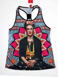 Débardeur imprimé Frida Kahlo TOUN40 à acheter en gros ou en détail dans la catégorie des vêtements hippies alternatifs pour femme.