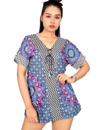 Hippie Clothing Outlet - Ethnic print blouse [TOUN43] to buy wholesale or detail in the Alternative Ethnic Hippie Outlet category.
