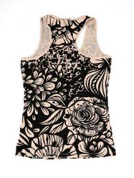 Camisetas y Tops Hippies - Top estampado de flores étnico TOUN44.
