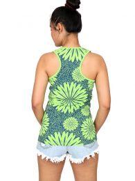 Camisetas y Tops Hippies - Top estampado de flores étnico TOUN45.