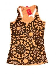 Outlet Ropa Hippie - Top estampado de flores étnico  TOUN46.
