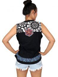 Top y Blusas Hippie Boho Ethnic - Top con estampado y parche TOUN57.