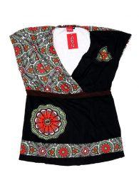 Top y Blusas Hippie Boho Ethnic - Blusa con estampado étnico TOUN62.