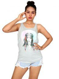 Top tirantes estampado India TOUN65 para comprar al por mayor o detalle  en la categoría de Ropa Hippie Alternativa para Mujer.