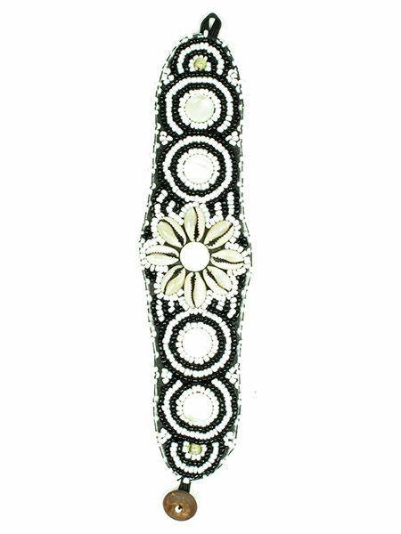 Pulsera étnica ancha flor conchas PUAB03 para comprar al por mayor o detalle  en la categoría de Bisutería Hippie Étnica Alternativa.