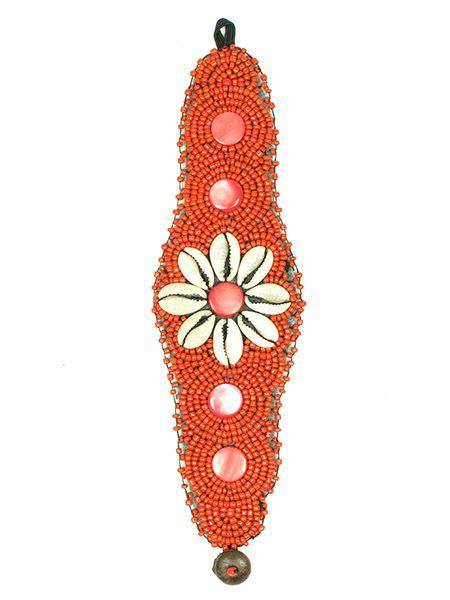 Pulsera étnica ancha flor conchas [PUAB03] para comprar al por Mayor o Detalle en la categoría de Pulseras Hippie Etnicas