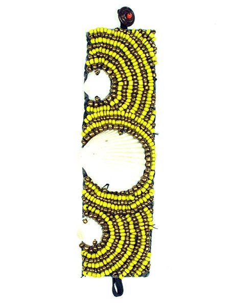 Pulseras Hippie Etnicas - Pulsera étnica ancha multi cuentas concha [PUAB07] para comprar al por mayor o detalle  en la categoría de Bisutería Hippie Étnica Alternativa.