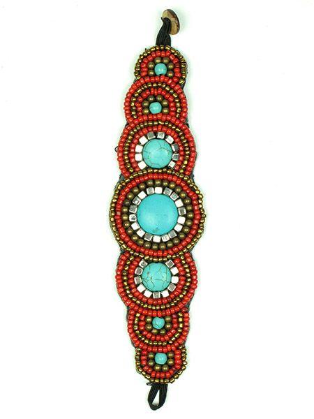 Pulsera realizada con multiples cuentas de colores brillantes y piedras Comprar - Venta Mayorista y detalle