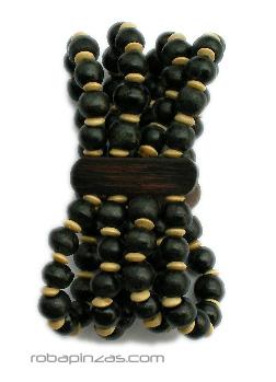Pulsera elástica combinaciones en cuentas de madera PUBOBO1 para comprar al por mayor o detalle  en la categoría de Outlet Hippie Étnico Alternativo.