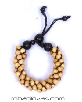 Pulsera hippie racimo de bolas de madera Comprar - Venta Mayorista y detalle