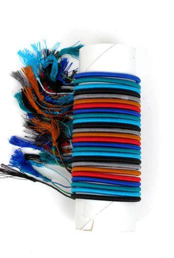 Pulsera fina de hilo en colores lisos y fosforescentes [PUBOU04] para Comprar al mayor o detalle