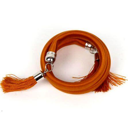 Pulsera gruesa de hilo multivuelta twister en colores lisos y fosforescentes [PUBOU06] para Comprar al mayor o detalle