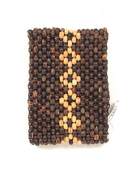 Pulsera de boitas de madera ancha PUCG3 para comprar al por mayor o detalle  en la categoría de Bisutería Hippie Étnica Alternativa.