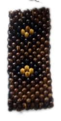 Pulsera de bolas de madera, 10 lineas, elástica - Comprar al Mayor o Detalle