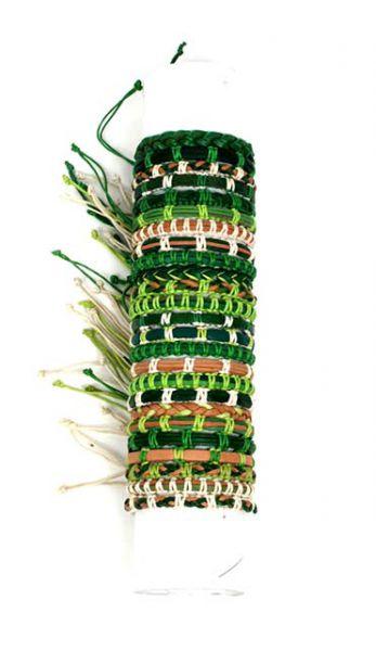 Pulseras hippies tonos verdes. Pulseras diseños variados en tonos Comprar - Venta Mayorista y detalle