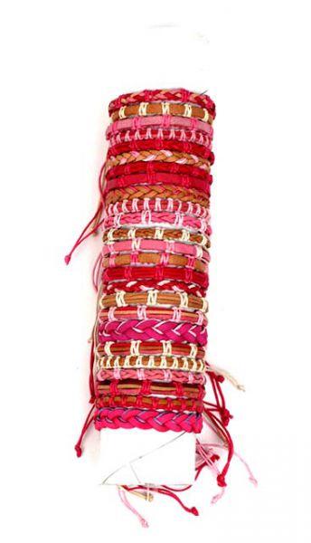 Pulseras hippies tonos rosas. pulseras diseños variados en tonos Comprar - Venta Mayorista y detalle