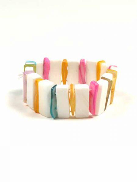Outlet Bisutería hippie - Pulsera elástica conchas colores [PUCON11] para comprar al por mayor o detalle  en la categoría de Outlet Hippie Étnico Alternativo.