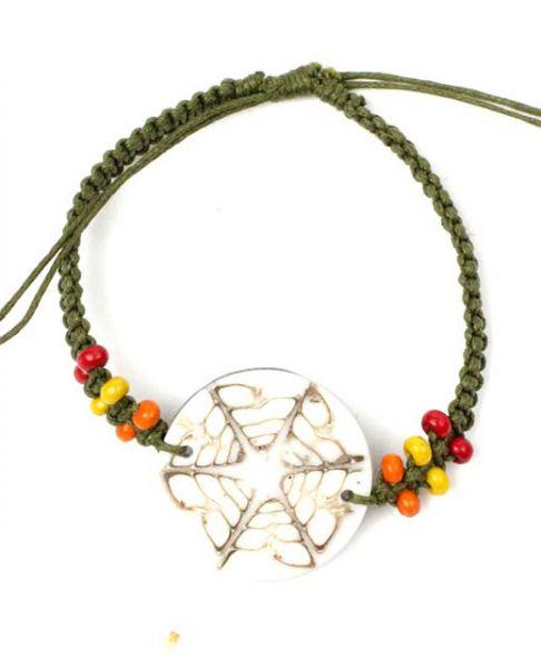 Pulsera hippie macramé conchas. PUCPU1 para comprar al por mayor o detalle  en la categoría de Bisutería Hippie Étnica Alternativa.