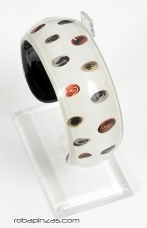 Pulseras en cristal Pyrex decorado, grabado al fuego. dos tallas. Comprar - Venta Mayorista y detalle