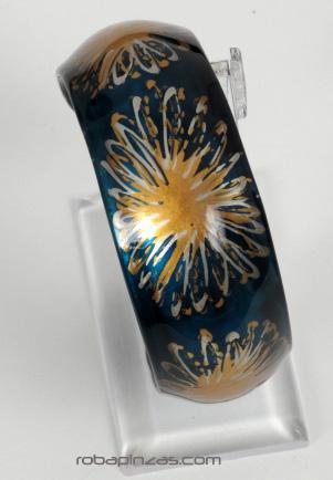 Pulseras en cristal Pyrex decorado, grabado al fuego. dos tallas. PUCR2 para comprar al por mayor o detalle  en la categoría de Bisutería Hippie Étnica Alternativa.