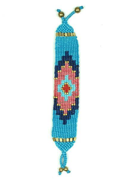 Pulsera hippie étnica acncha de hilo de algodón encerado Comprar - Venta Mayorista y detalle