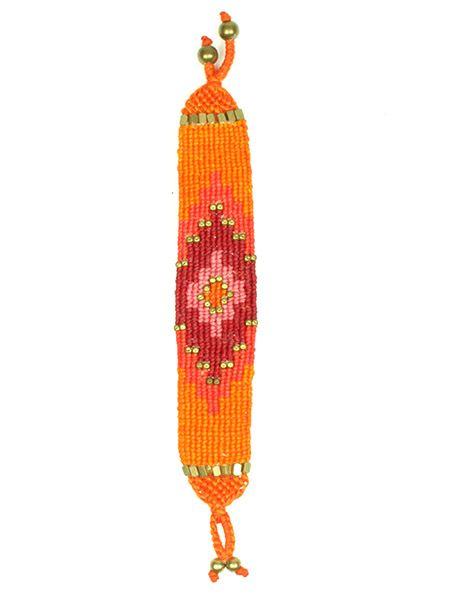 Pulsera étnica ancha macramé PUHA01 para comprar al por mayor o detalle  en la categoría de Bisutería Hippie Étnica Alternativa.
