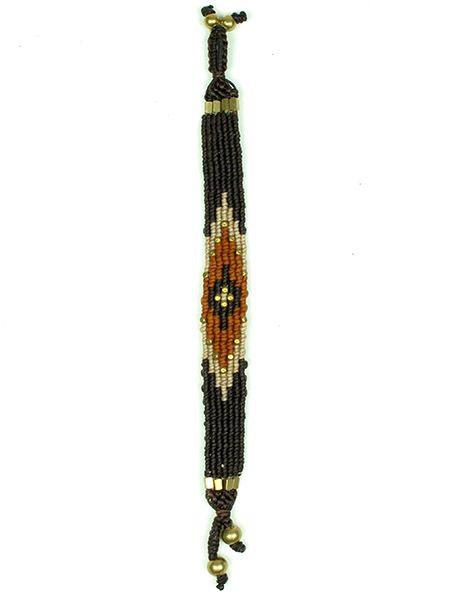 Pulsera hippie étnica de hilo de algodón encerado realizada Comprar - Venta Mayorista y detalle