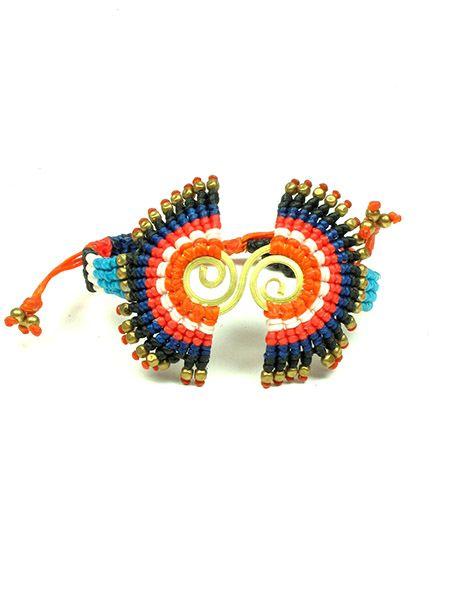 Pulseras Hippie Etnicas - Pulsera étnica macramé semi circulos [PUHA03] para comprar al por mayor o detalle  en la categoría de Bisutería Hippie Étnica Alternativa.