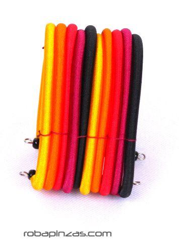 Pulsera rígida algodón multicolor 10 lineas [PULI02] para Comprar al mayor o detalle