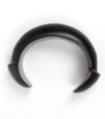 pulsera bangle madera tallada con terminales en forma de seta para Comprar al mayor o detalle