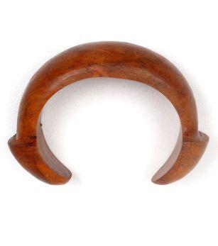 Pulseras Hippie Etnicas - pulsera bangle madera tallada con terminales en forma de seta [PUMD14] para comprar al por mayor o detalle  en la categoría de Bisutería Hippie Étnica Alternativa.