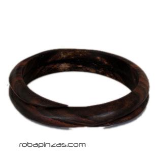 Pulsera madera tipo bangle espiral sencilla PUMES1 para comprar al por mayor o detalle  en la categoría de Bisutería Hippie Étnica Alternativa.