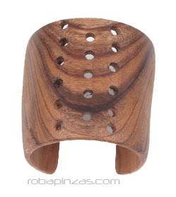 Pulsera extra ancha de maderas duras tropicales como TEKA decorada Comprar - Venta Mayorista y detalle