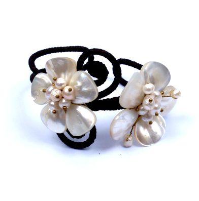 pulsera semi-rígida con flores de piedras y nacar, para la Comprar - Venta Mayorista y detalle