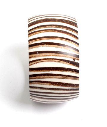 Pulsera coco y resina, tipo bangle, ancha Comprar - Venta Mayorista y detalle