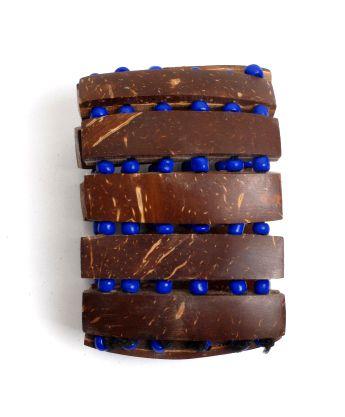 Pulsera ancha de madera y cuantas de colores, elástica Comprar - Venta Mayorista y detalle